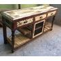 Muebles Tv - Lcd - Led De Madera Reciclada - Patina