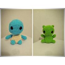 Amigurumi Pokemon Muñeco Crochet Pikachu Squirtle Bulbasaur