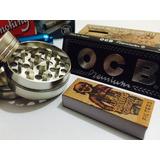 Ocb Kit Picador De Tab + Máquina + Pipa + Filtros + Celulosa