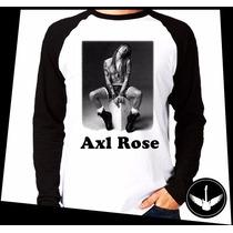 Manga Longa Guns N Roses Axl Rose Banda Rock Blusa Camisa