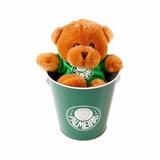 Balde Com Urso Palmeiras Pelúcia Mascote