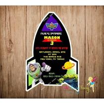 Invitaciones Buzz Light Year Toy Story Disney Full Color