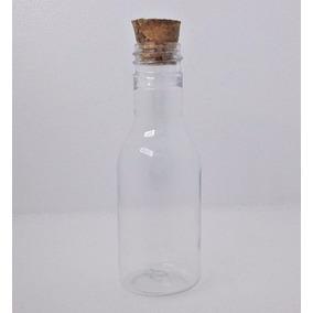 100 - Mini Garrafinhas De Plastico 50ml Com Tampas De Rolha