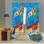 Cortina Infantil Adventure Time 300 X 220cm - Lepper