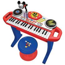 Disney Teclado Electrónico Mickey Mouse Microfono Env Gratis