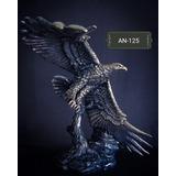 Escultura Águila Volando Plata 999 Electroformado Figura