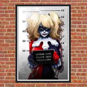 Poster Quadro Em Madeira Harley Quinn Arlequina