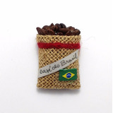 Imã Geladeira Café Do Brasil Lindo Souvenir Artesanato Unid.