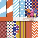 Kit Imprimible Pack Fondos Backyardigans 44 Clipart