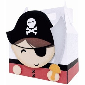 Cute Box Caixa Pirata Espada Silhouette Scrapbook Digital
