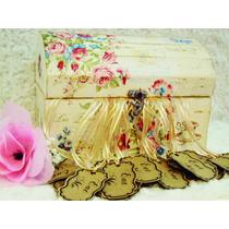 Cofre Con Cintas 15 Años Ceremonia Velas Pergaminos Souvenir
