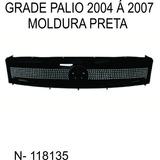 Grade Palio Moldura Preta 2004 Á 2007