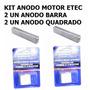 Kit Anodos Johnson Evinrude Motor De Popa Linha E-tec +40hp