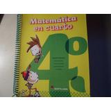 Matemática En Cuarto 4°- Editorial Santillana