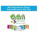 Reproductor Mp3 Metalico Microsd Shuffle C Cargador Audifono