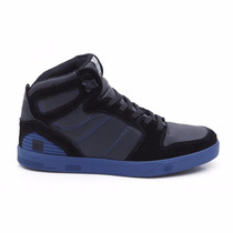 Tênis Land Feet Preto/azul Cano Alto Bota Skate - Tipo Supra