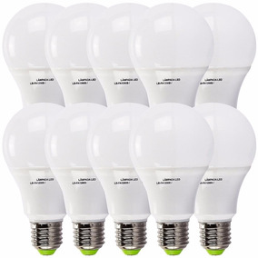 Kit 10 Lampada Led 7w Bulbo Soquet E27 Bivolt A60 Luz Branca