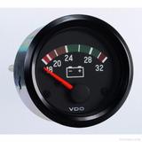 1 Indicador Marcador Reloj Voltimetro 24v Universal Vdo