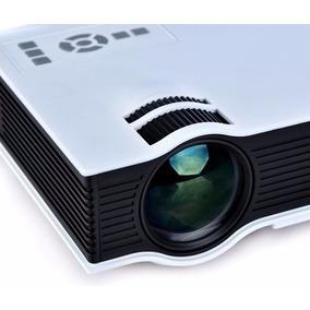 Mini Projetor Home Cin Led Uc40 1080p Av Hdmi 130 Polegadas