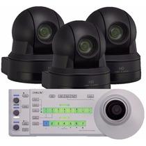 3 Cameras Sony Evi H 100s Pan Tilt Zoom E 1 Controlador Sony