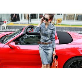 Mei Fashion / Vestido Jeans / Moda Coreana
