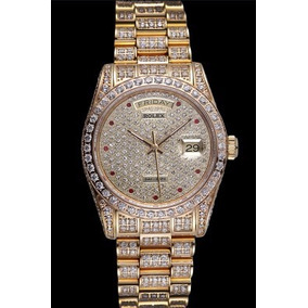 Swiss Rolex Day-date Diamonds Yellow Gold-srl185 621615 (srl