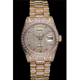 Swiss Rolex Day-date Diamonds Yellow Gold-srl185 621615 (srl