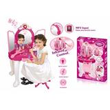 Tocador Peinador Juguete Niña Princesas Musical Mp3 Luces
