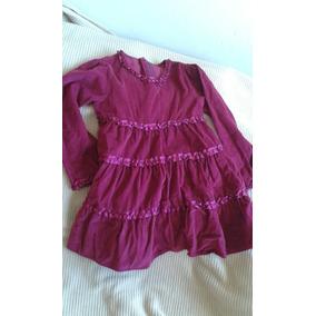Vestido Para Niña Cheeky De Pana Color Bordó Para 3 A 4 Años