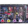 Monster High - Set 4 Muñecas(ghoulia,venus,clawdeen,rochele)