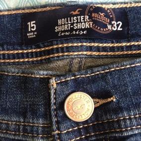Roupa Feminino Hollister Shorts Jeans Bermuda Original