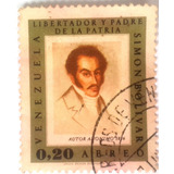 Estampilla Simon Bolivar Libertador Y Padre De La Patria 0,2