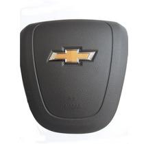 Tampa Capa Airbag Volante Onix Prisma Cobalt Spin Marrom