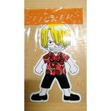 Lote 12 Sticker Sanji - One Piece Anime Manga