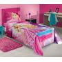 Roupa De Cama Solteiro Barbie 03 Peças - Estampas Variadas