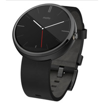 Smart Watch Motorola Moto 360 Negro Gris Piel Reloj Android