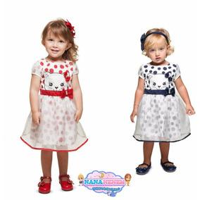 Vestido Infantil Gatinha Turma Da Malha Linha Luxo Cód: 147