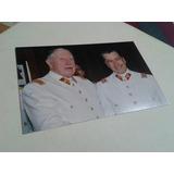 Fotografía Augusto Pinochet Junto A Izurieta
