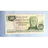 Billete 500 Pesos Argentinos