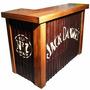 Barra Bar Arrime Mostrador 100x50x100cm Madera Reciclada Eco