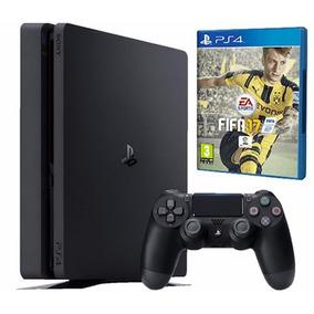 Sony Playstation 4 Ps4 500gb Slim Juego Fifa 17 + 1 Joystick
