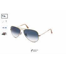 Oculos Aviador Rb 3026 Azul Degrade Ray Ban Original
