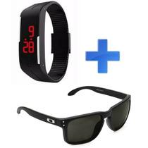 Relógio Smart Moda Masculino/feminino+ Óculos Polarizado