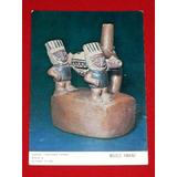 Postal Huaco Cultura Chimú Museo Amano Miraflores Lima Perú