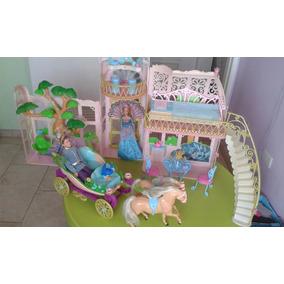 Casa Barbie Escenario Grande Carruaje Príncipe Y Princesa