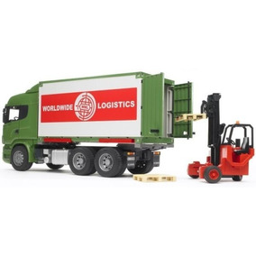 Juguetes Bruder Scania R-series Truck W. Interchangeable Con