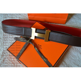 Cinto E Fivela Hermes 42mm Reversível Cafe/vermelho Original