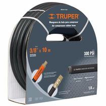 Manguera Compresor 1/4 Plg X 10 M Alta Presion Truper 17080