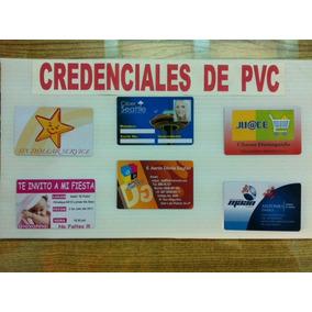 Impresión De Credenciales Ó Gafete De Pvc A Color Térmica!!!