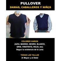 Pullover Lana O Hilo Dama Caballeros Y Niños Talla 4 - Xxxl